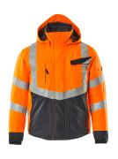 15535-231-14010 Vinterjakke - hi-vis oransje/mørk marine