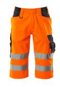 15549-860-14010 Shorts, lange - hi-vis oransje/mørk marine
