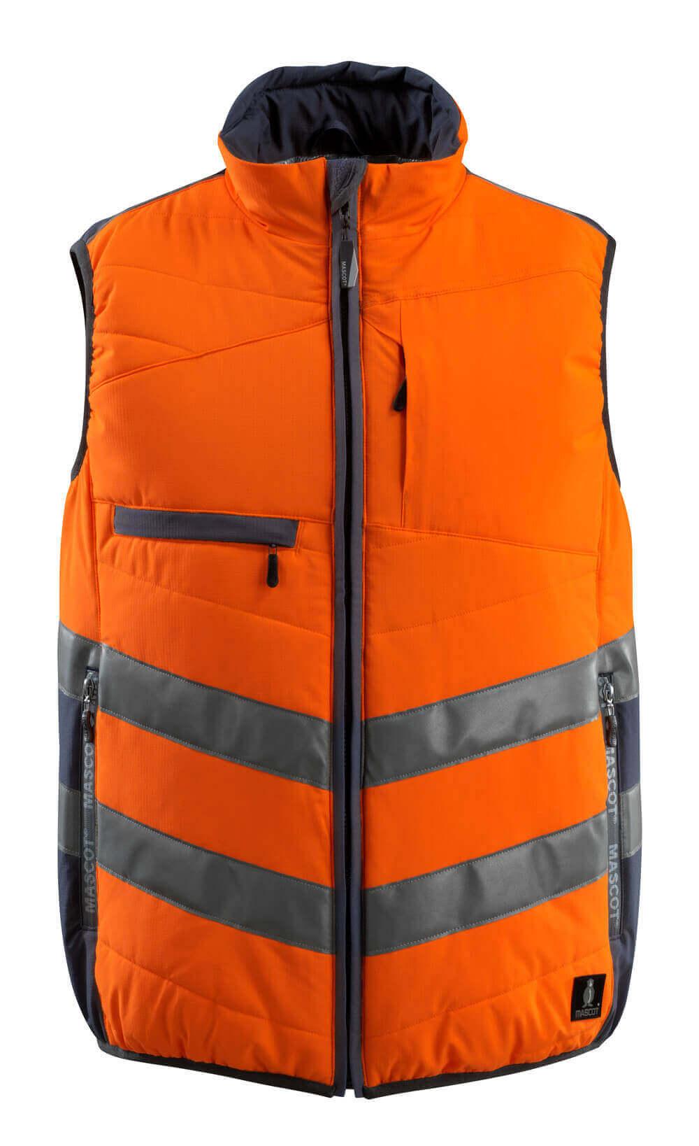15565-249-14010 Vintervest - hi-vis oransje/mørk marine