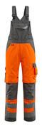 15569-860-1418 Overall med knelommer - hi-vis oransje/mørk antrasitt