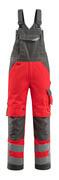 15569-860-22218 Overall med knelommer - hi-vis rød/mørk antrasitt