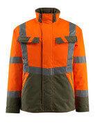 15935-126-1433 Vinterjakke - hi-vis oransje/mosegrønn
