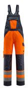 15969-948-14010 Overall med knelommer - hi-vis oransje/mørk marine