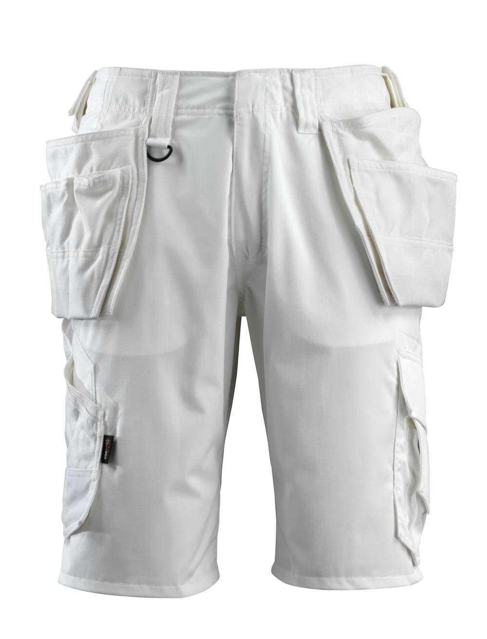 16049-230-06 Shorts med hengelommer - hvit