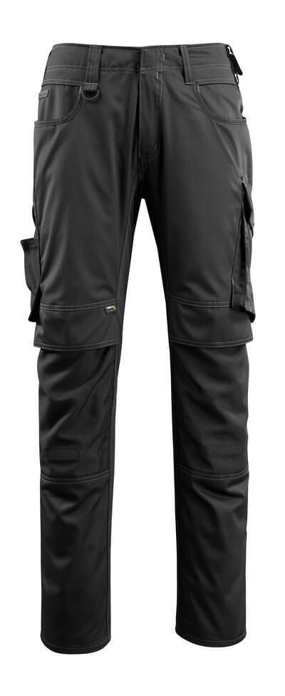 16079-230-09 Bukser med knelommer - svart