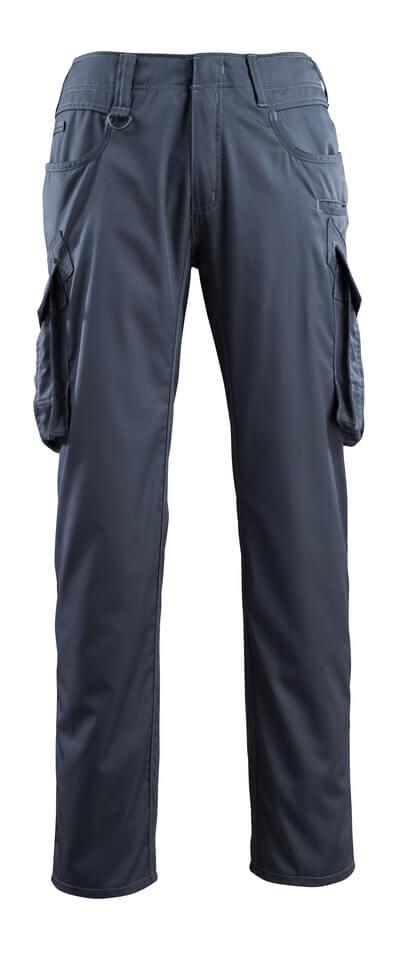 16179-230-010 Bukser med lårlommer - mørk marine