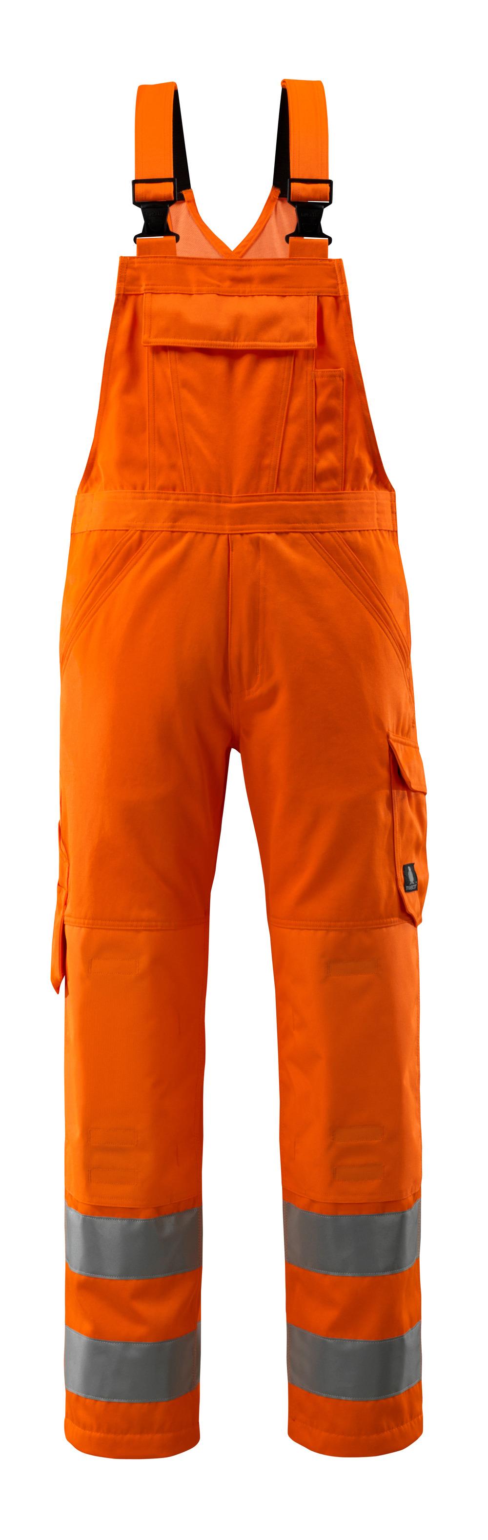 16869-860-14 Overall med knelommer - hi-vis oransje