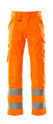 16879-860-14 Bukser med knelommer - hi-vis oransje