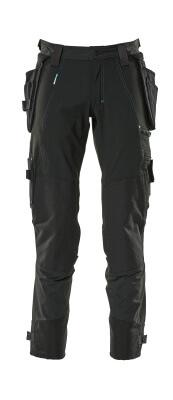 17031-311-010 Bukser med kne- og hengelommer - mørk marine