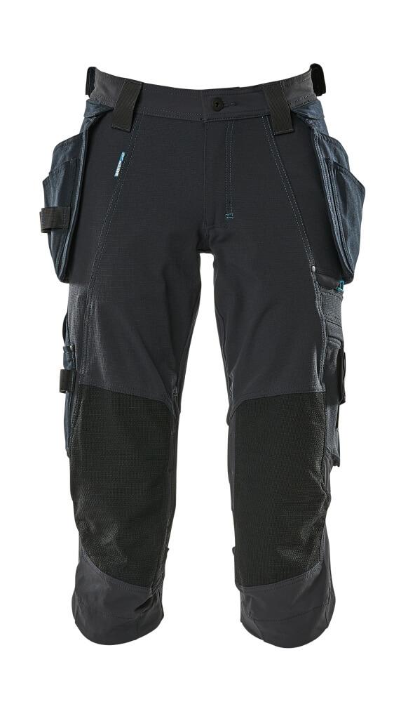 17049-311-010 Piratbukser med kne- og hengelommer - mørk marine