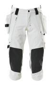 17049-311-06 Piratbukser med kne- og hengelommer - hvit