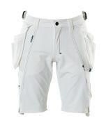 17149-311-06 Shorts med hengelommer - hvit
