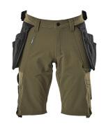 17149-311-33 Shorts med hengelommer - mosegrønn