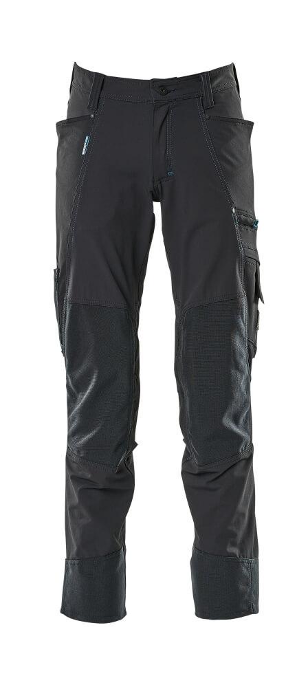 17179-311-010 Bukser med knelommer - mørk marine