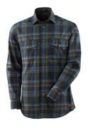 17204-991-01085 Skjorte - mørk marine/steinblå