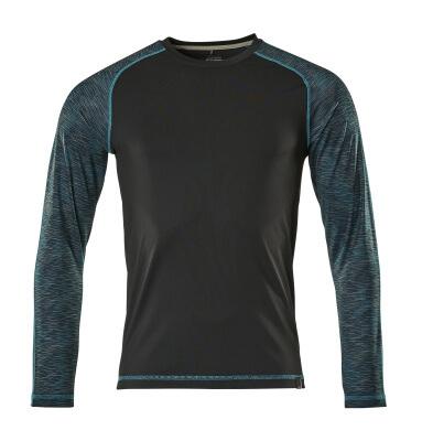 17281-944-09 T-skjorte, langermet - svart