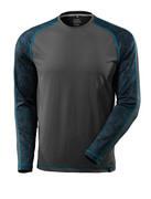 17281-944-18 T-skjorte, langermet - mørk antrasitt