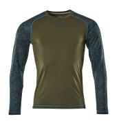 17281-944-33 T-skjorte, langermet - mosegrønn