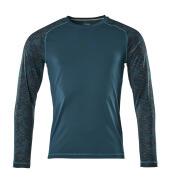 17281-944-44 T-skjorte, langermet - mørk petroleum