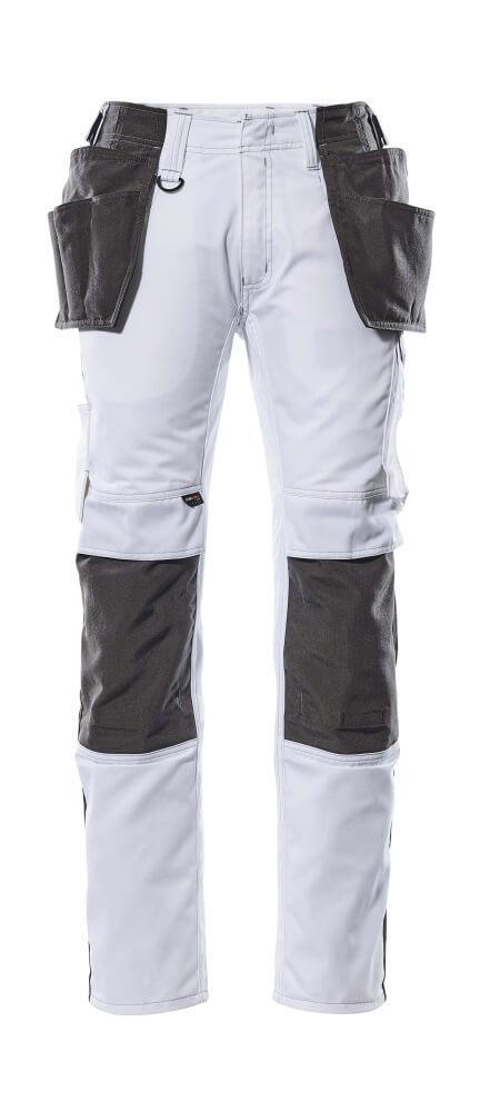 17631-442-0618 Bukser med hengelommer - hvit/mørk antrasitt