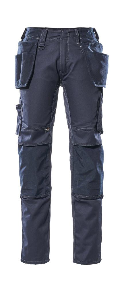 17731-442-010 Bukser med kne- og hengelommer - mørk marine