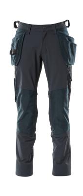 18031-311-010 Bukser med kne- og hengelommer - mørk marine