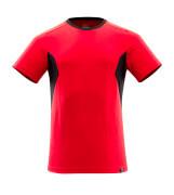 18082-250-20209 T-skjorte - signalrød/svart