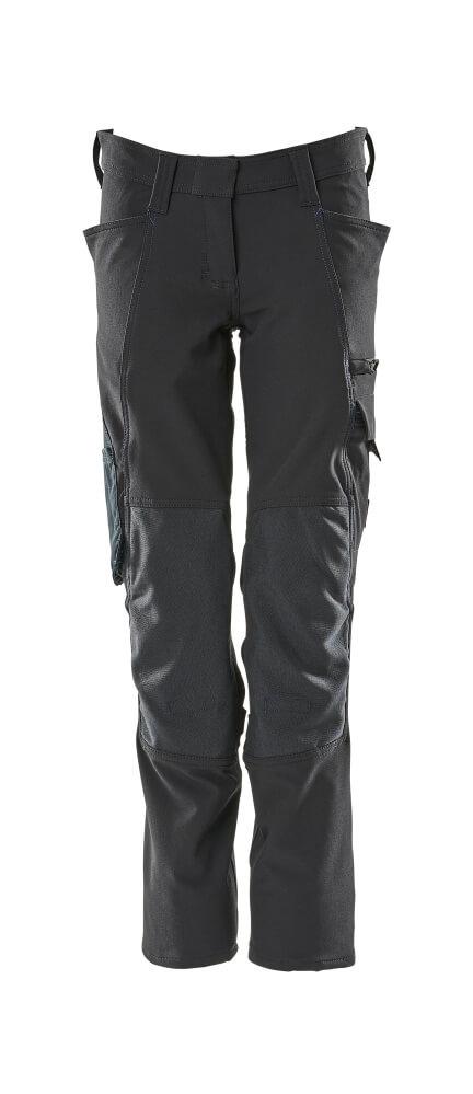 18088-511-010 Bukser med knelommer - mørk marine