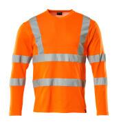 18281-995-14 T-skjorte, langermet - hi-vis oransje