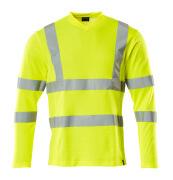 18281-995-17 T-skjorte, langermet - hi-vis gul