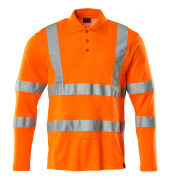 18283-995-14 Pikéskjorte, langermet - hi-vis oransje