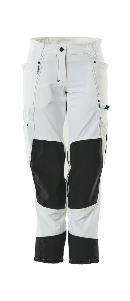 18378-311-06 Bukser med knelommer - hvit