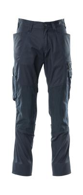 18379-230-010 Bukser med knelommer - mørk marine