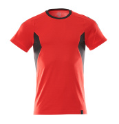 18382-959-20209 T-skjorte - signalrød/svart