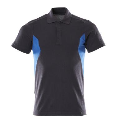 18383-961-01091 Pikéskjorte - mørk marine/azurblå