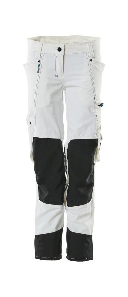 18388-311-06 Bukser med knelommer - hvit