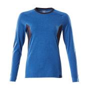 18391-959-91010 T-skjorte, langermet - azurblå/mørk marine