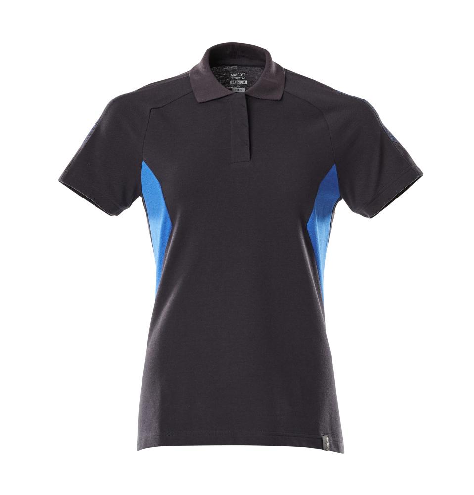 18393-961-01091 Pikéskjorte - mørk marine/azurblå