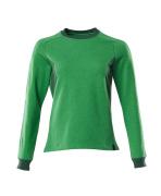 18394-962-33303 Collegegenser - gressgrønn/grønn