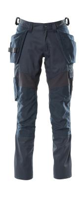 18531-442-010 Bukser med kne- og hengelommer - mørk marine