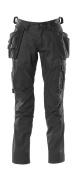 18531-442-09 Bukser med kne- og hengelommer - svart