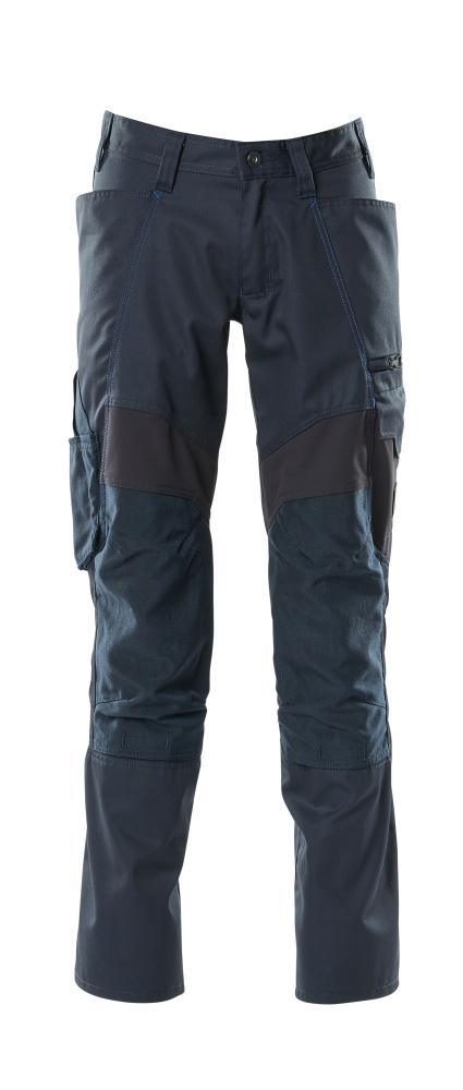 18579-442-010 Bukser med knelommer - mørk marine