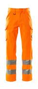 18879-860-14 Bukser med lårlommer - hi-vis oransje