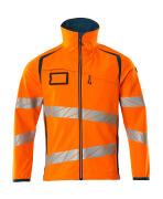19002-143-1444 Softshelljakke - hi-vis oransje/mørk petroleum