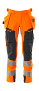 19031-711-14010 Bukser med hengelommer - hi-vis oransje/mørk marine