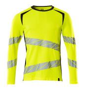 19081-771-14010 T-skjorte, langermet - hi-vis oransje/mørk marine