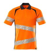 19083-771-14010 Pikéskjorte - hi-vis oransje/mørk marine