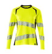 19091-771-14010 T-skjorte, langermet - hi-vis oransje/mørk marine