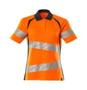 19093-771-14010 Pikéskjorte - hi-vis oransje/mørk marine