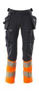 19131-711-01014 Bukser med hengelommer - mørk marine/hi-vis oransje